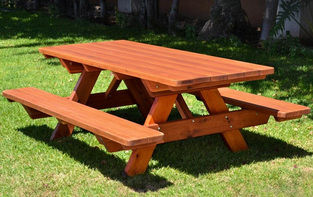 Wooden Park Table Bench Set