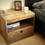 Small Space Nightstand Like Part of Wood Furniture Set in Small Bedroom