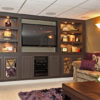 Media Room With Built-in Furniture