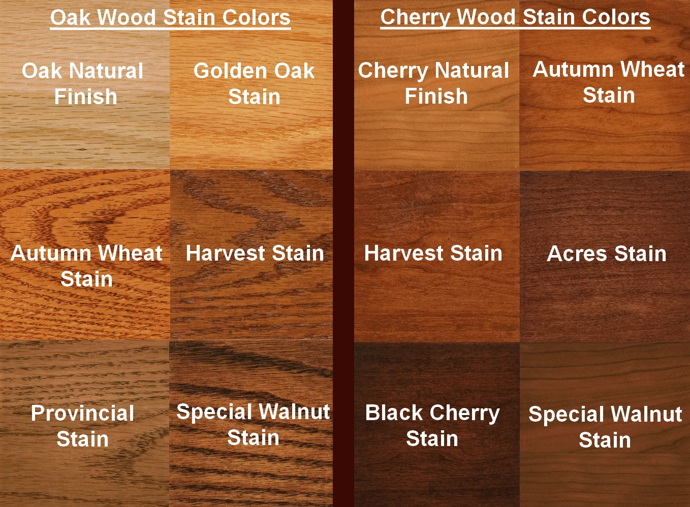 Oak Wood Stain Colors
