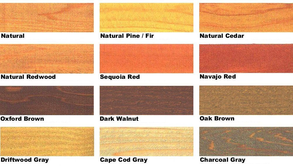 Outdoor Wood Stain Colors