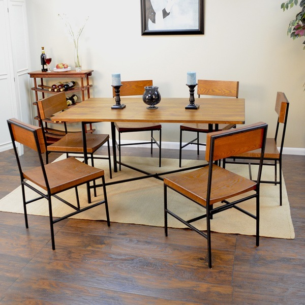 Wood Table With Metal Frame