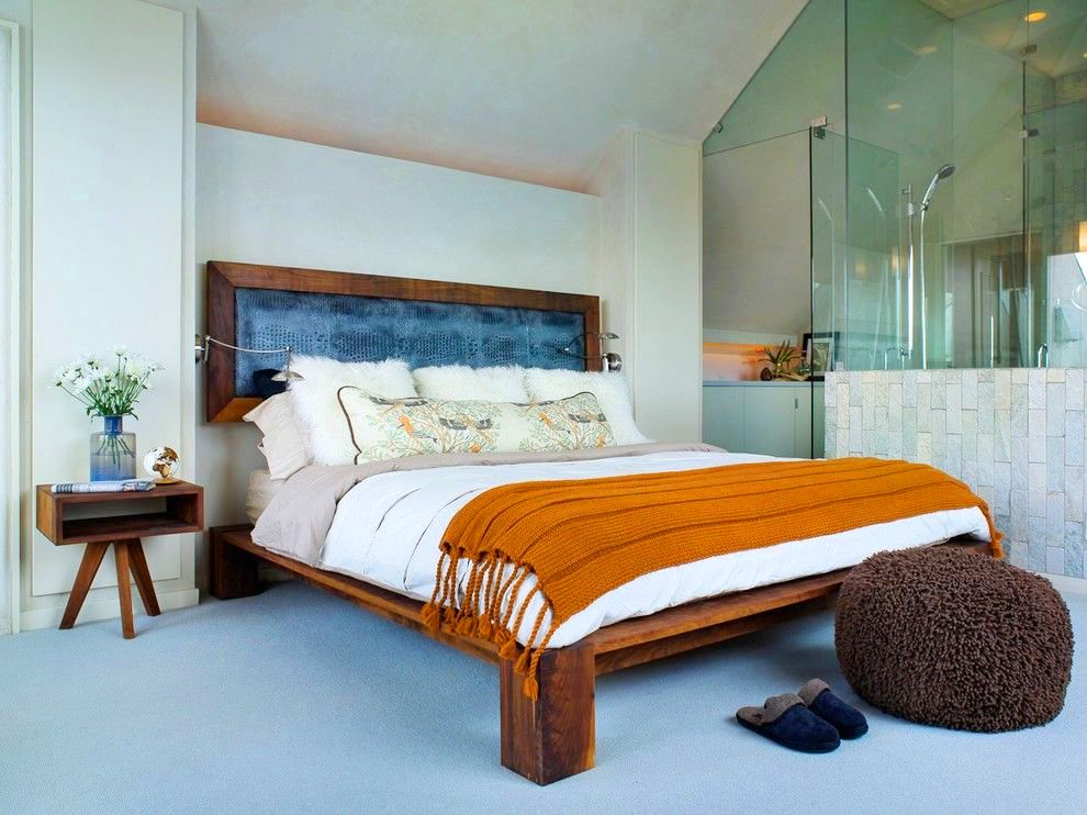 Dark Wood Bed Set