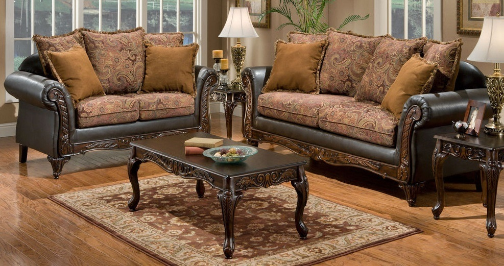 You can use elements of shabby chic style and give a classic sofa set frayed view.