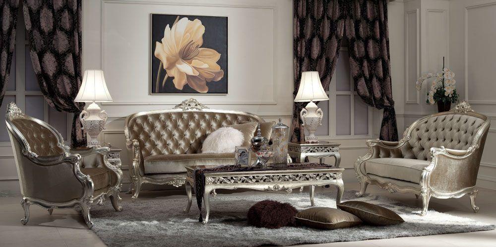 Classic wooden sofa set