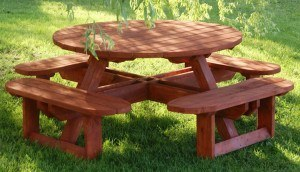 Custom wooden table