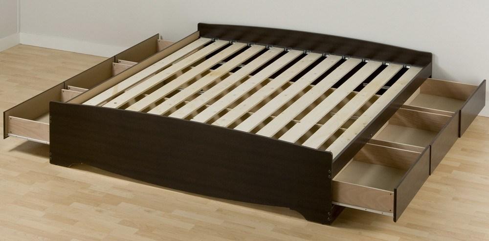 Dark Walnut Bed Frame