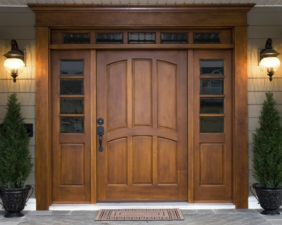Ultra modern front doors are very popular in USA.