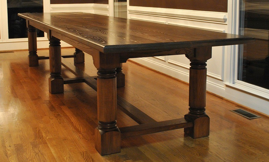 Rectangular Oak Kitchen Table