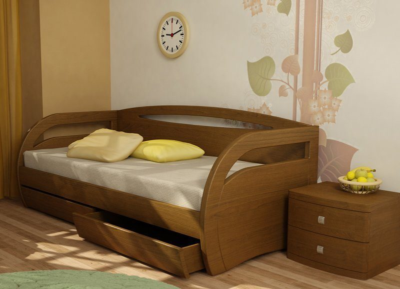 Simple Wood Bed