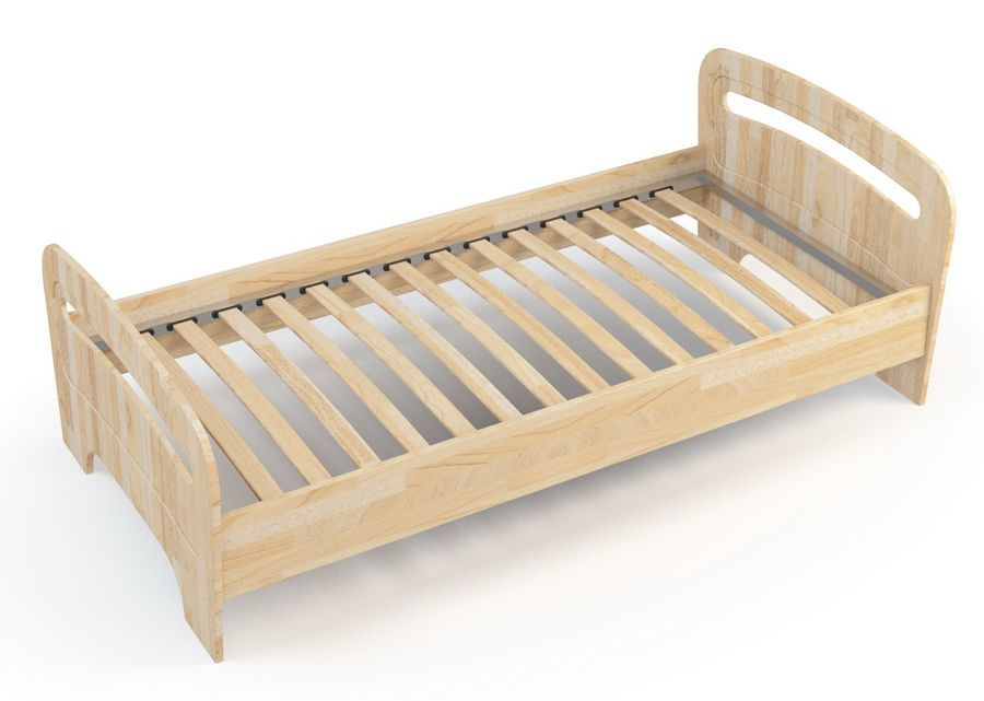 White Wooden Single Bed Frame