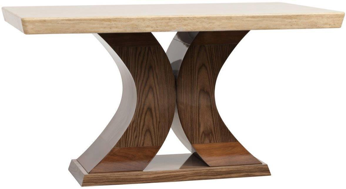 Square Wood Dining Table with twisted legs