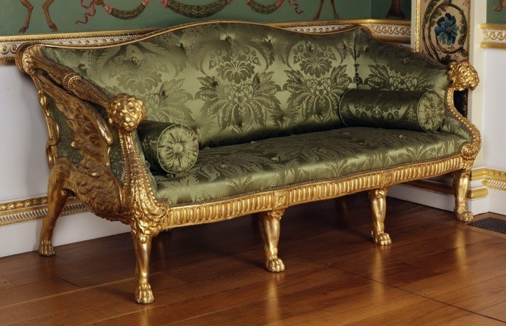 Good vintage wooden sofa will be a real finding for your living room.