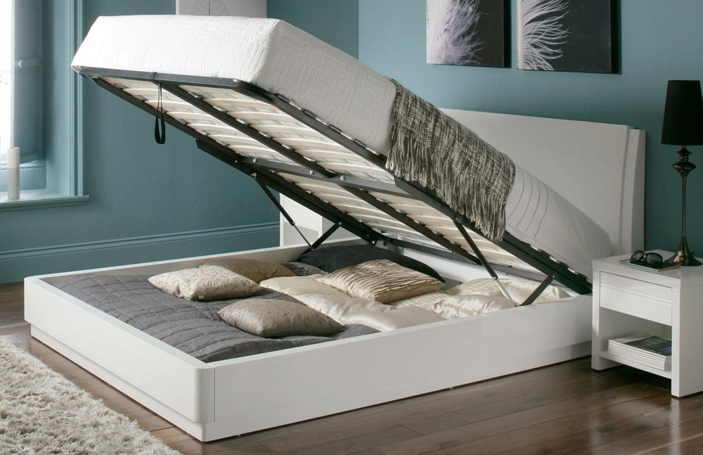 For production white wood full size platform bed quality and robust wood is used.