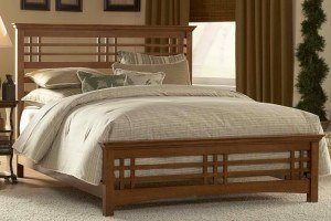 Wood bed frame