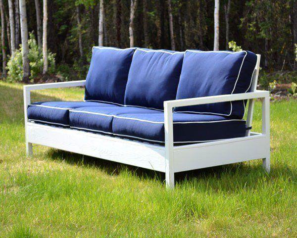 White Wood Sofa