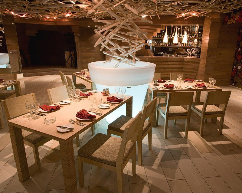 Wood Chairs in Restaurants