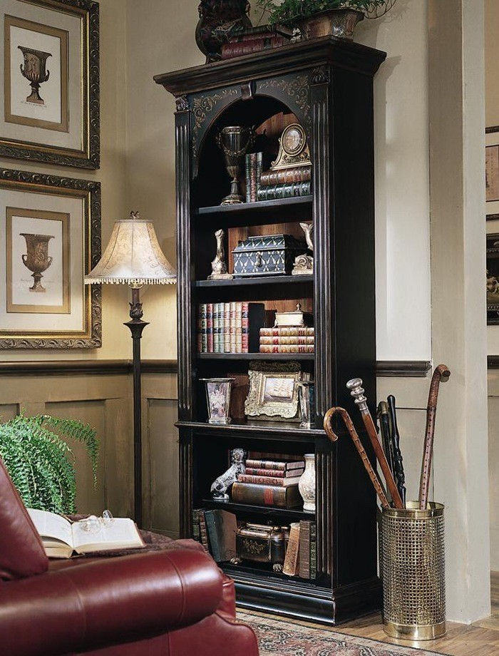 Black and Wood Bookcase