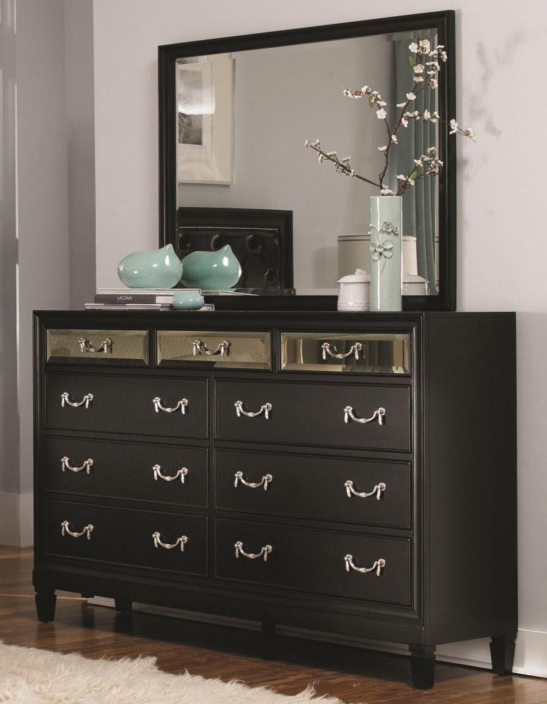 Dark Wood Dresser Set