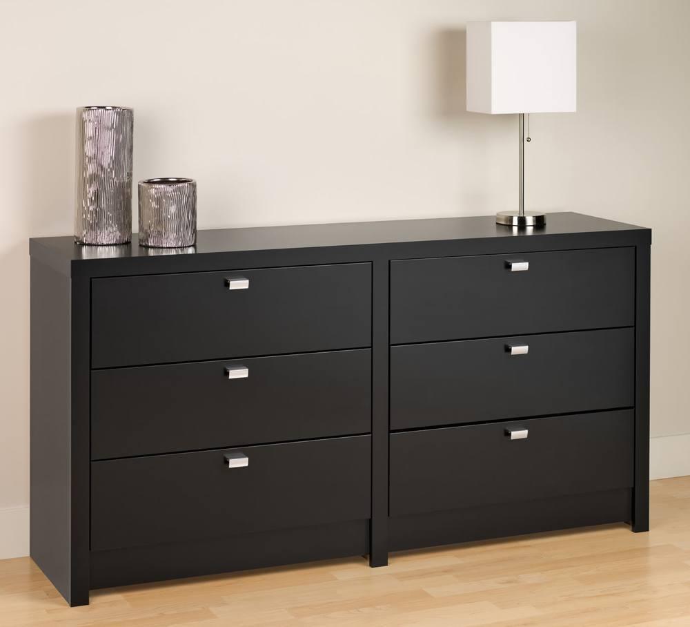 Wood Black Dresser