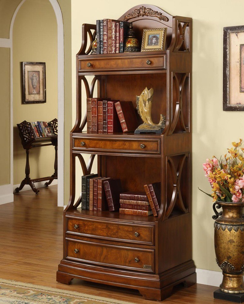 Solid Wood Tall Bookcase