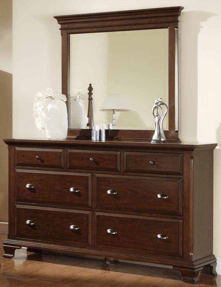 Tall Dark Brown Dresser