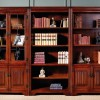 Cherry wood bookcase with doors which is made of solid tree is well-protected from mechanical and thermal influences.
