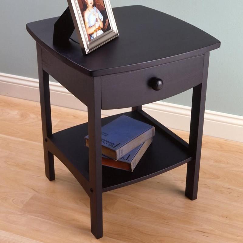 Dark Walnut Bedside Table