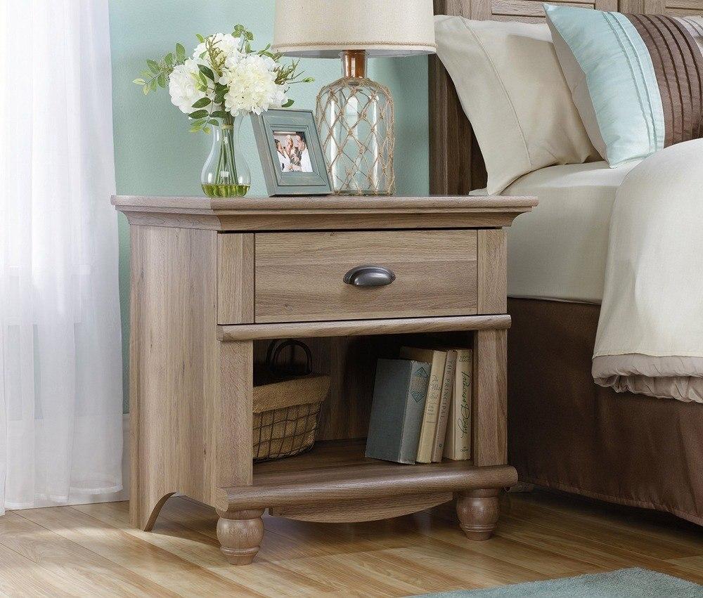 Grey Washed Wood Nightstand