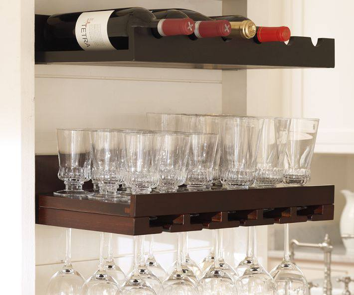 Modern bar shelves are affordable and practical decision.