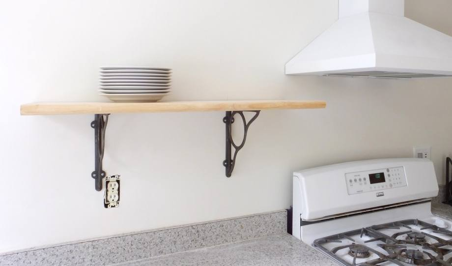 Pine wood floating shelves are affordable and practical decision.
