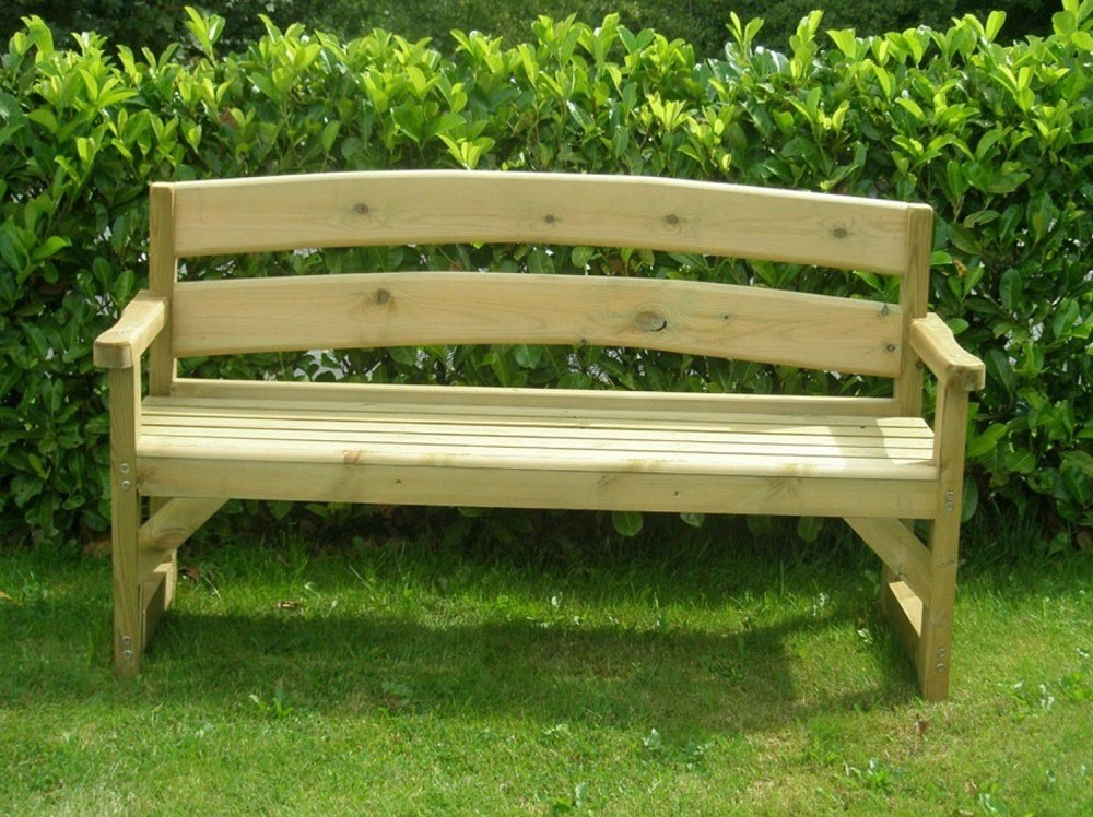 Two Seater Wooden Bench