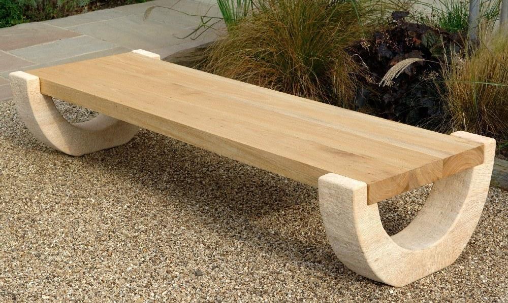 Modern Wood Bench Outdoor