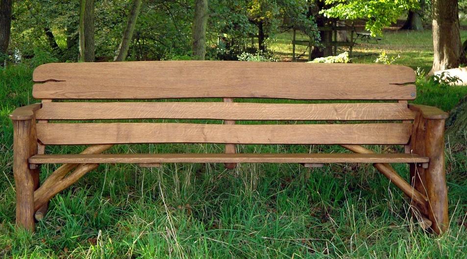 Natural Wood Garden Bench