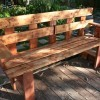 Narrow Outdoor Bench