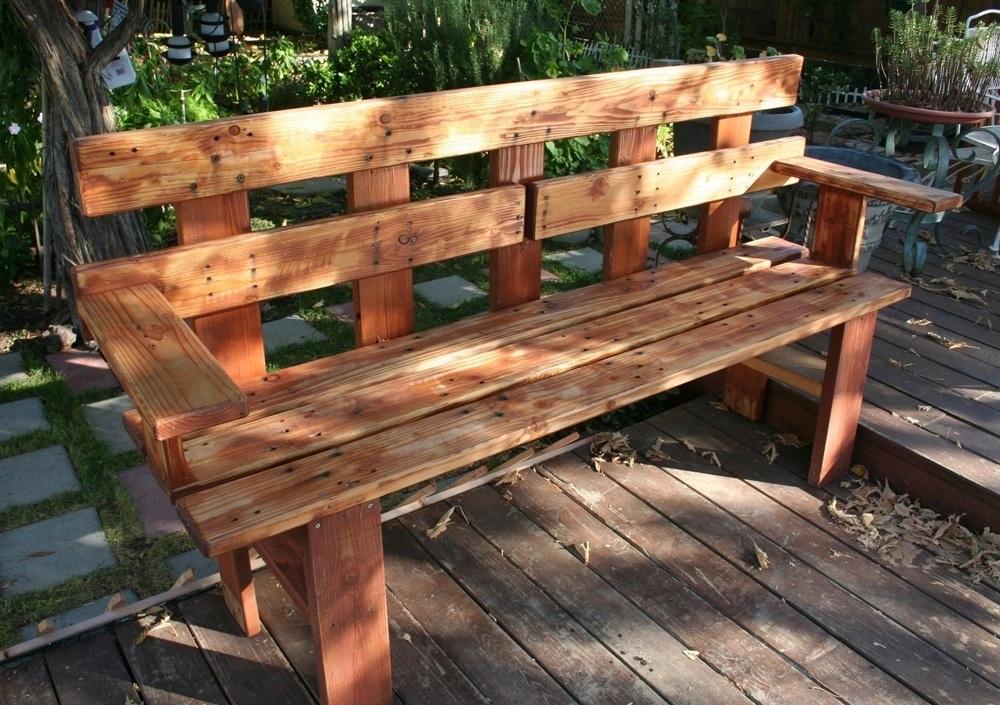 Narrow Outdoor Bench