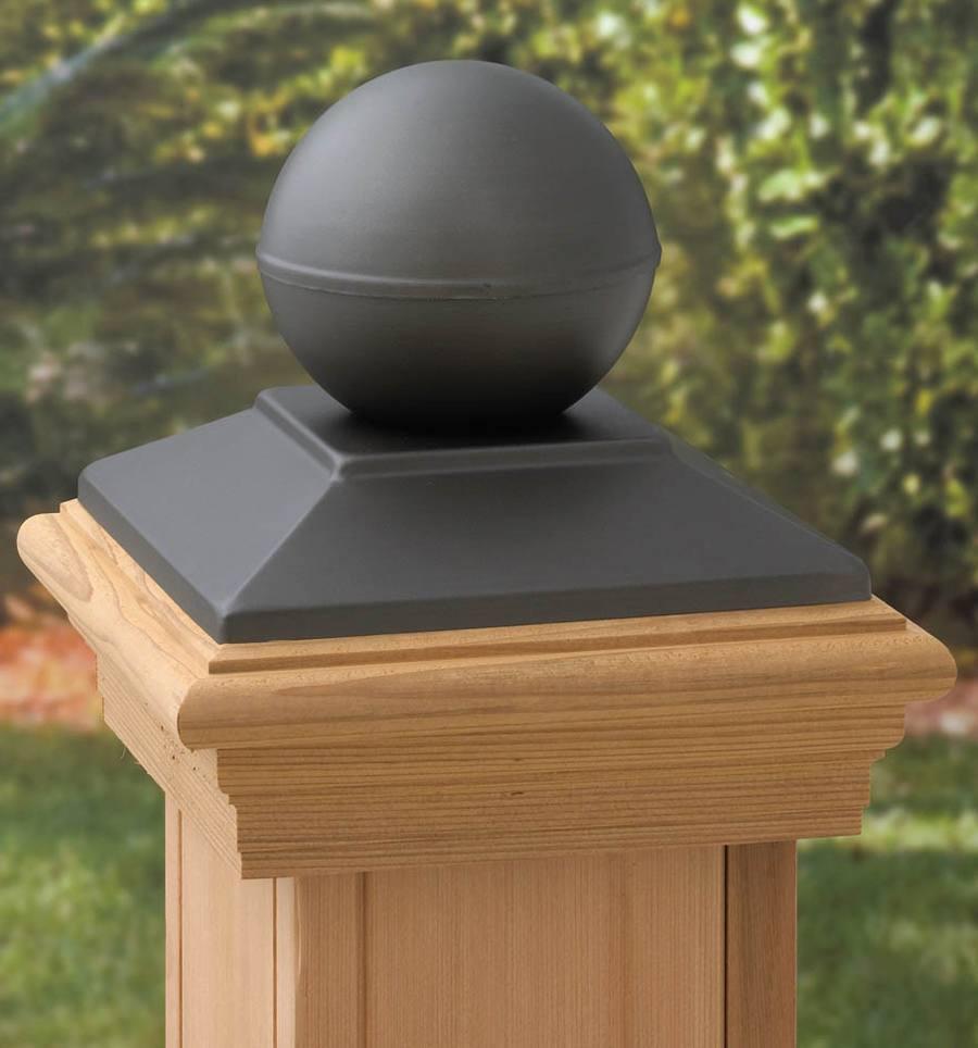 Post: Round Wood Fence Post Cap Version 5