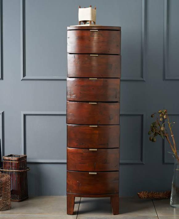 Thin tall wood dresser