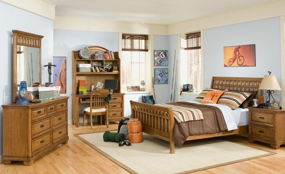 Feather and Black Bedroom Furniture