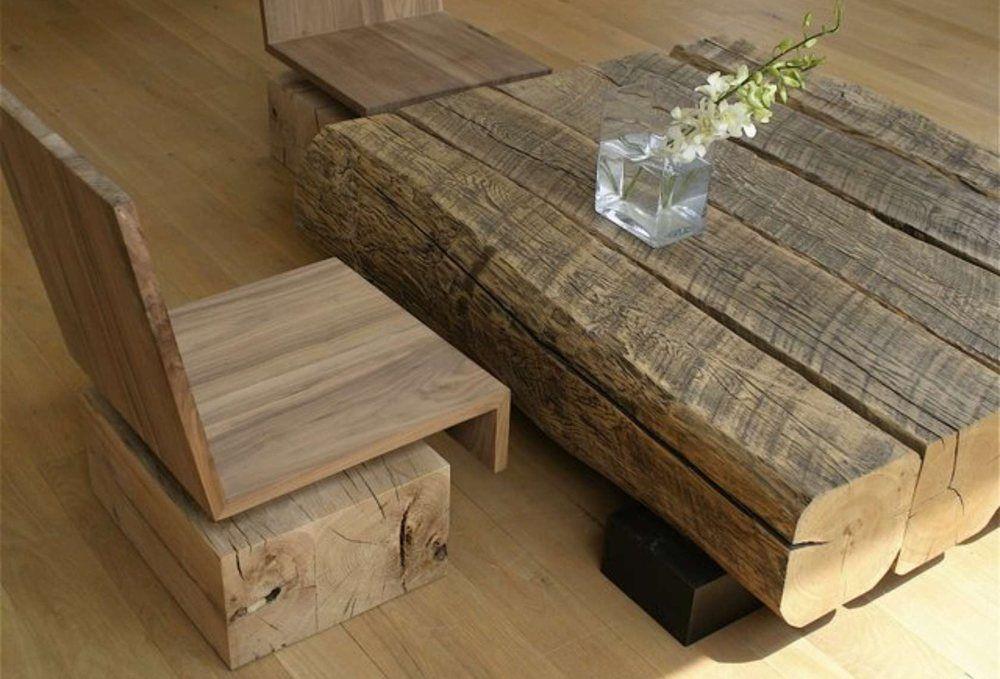 Modern Wooden Table Set