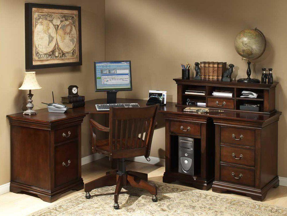 Rustic Wood Computer Desk