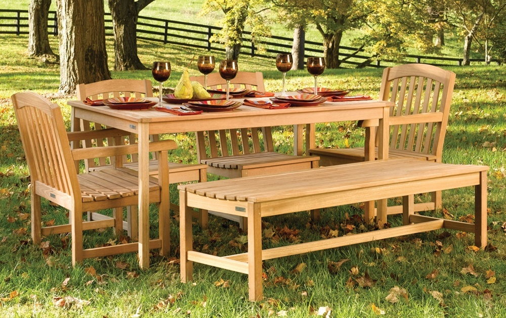 Modern Teak Outdoor Dining Table