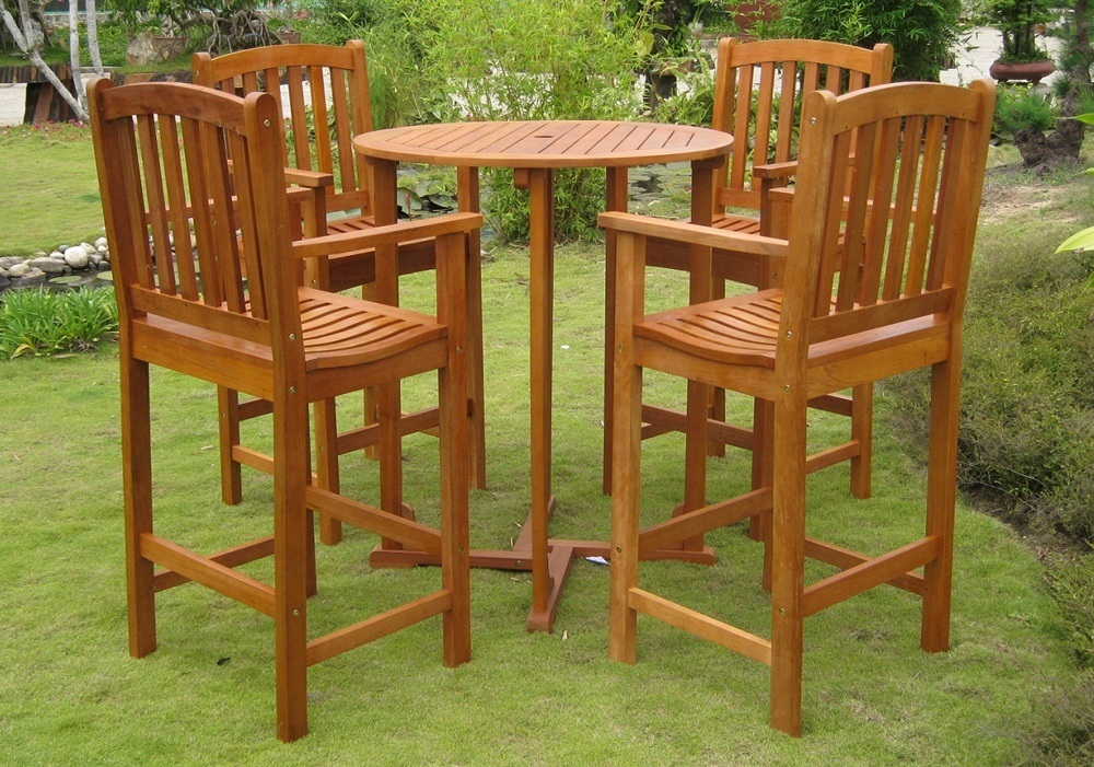 Wood Outdoor Table Set