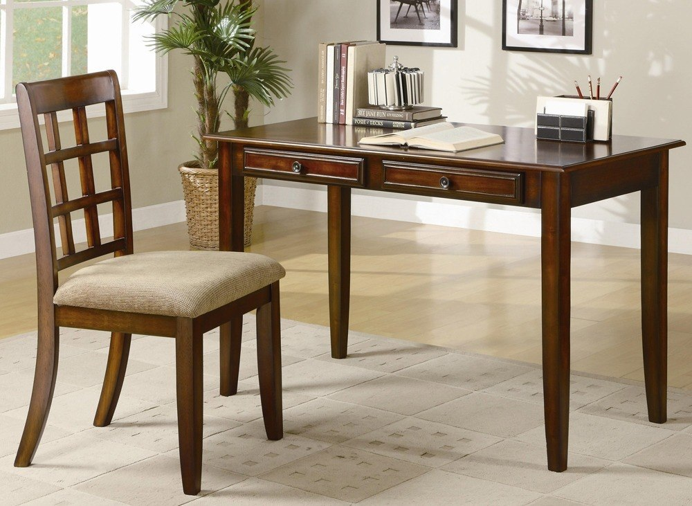 Wood Desk and Chair Set