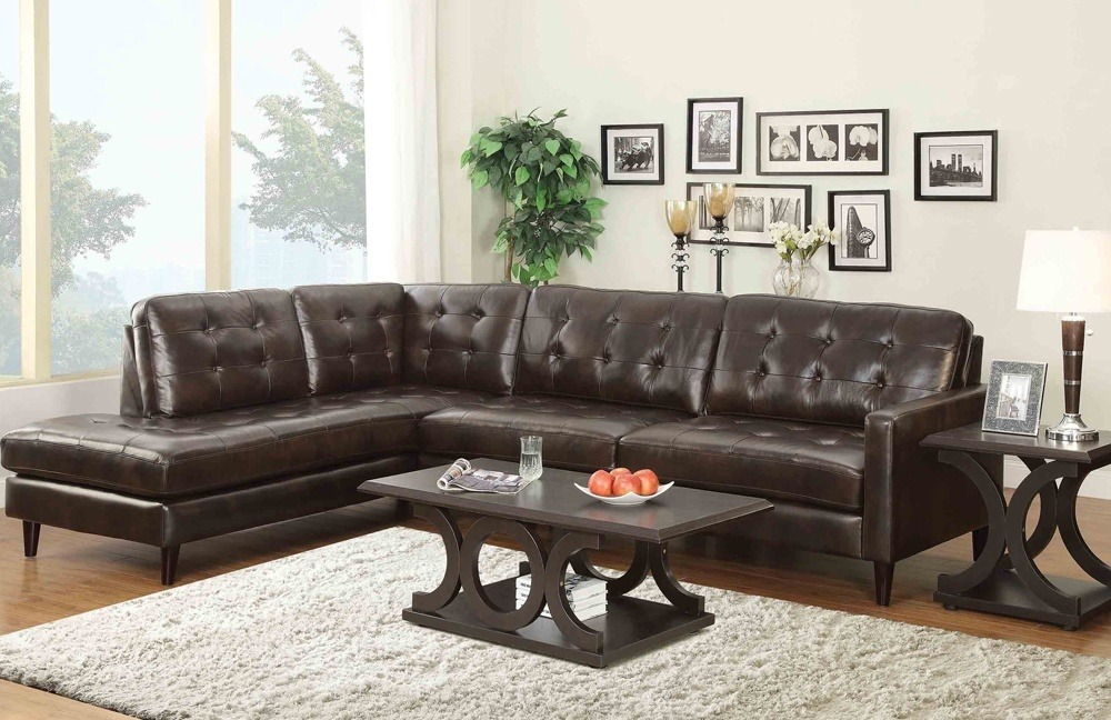 Brown sectional ideas consist of 2seats sofa, a love seat, and tables or coffee tables.