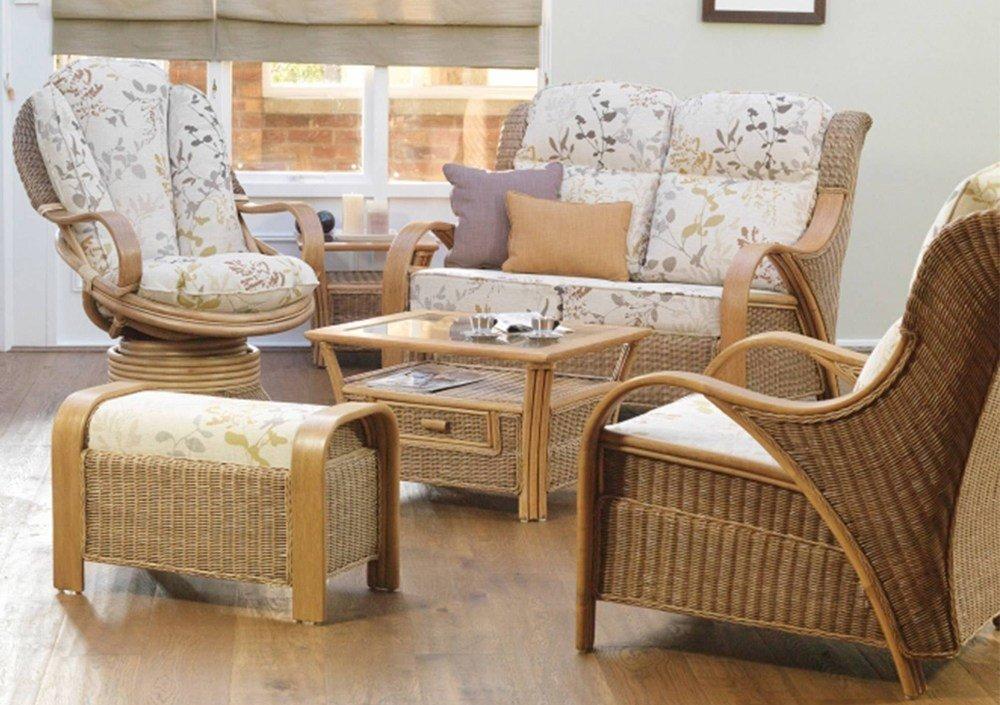 Cane Sofa Set Design