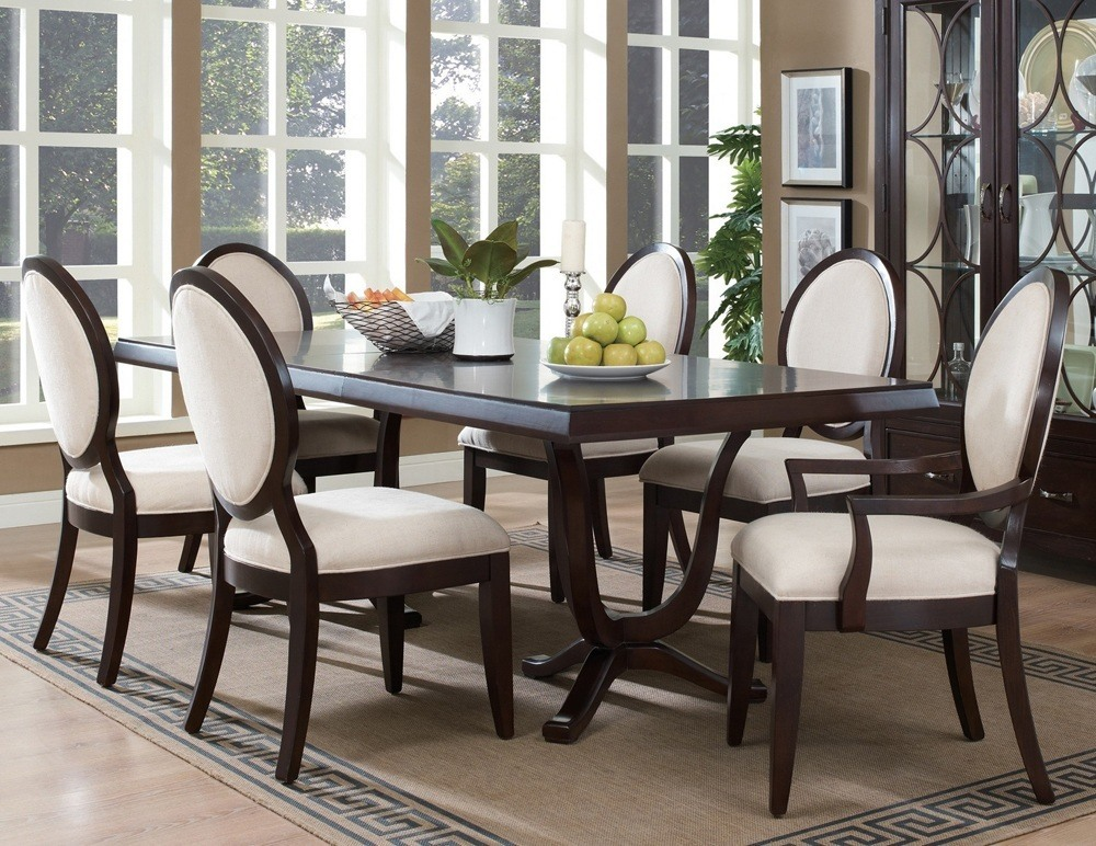 Black Wood Dining Table Set