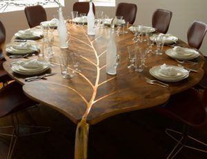 Interesting Wood Dining Table