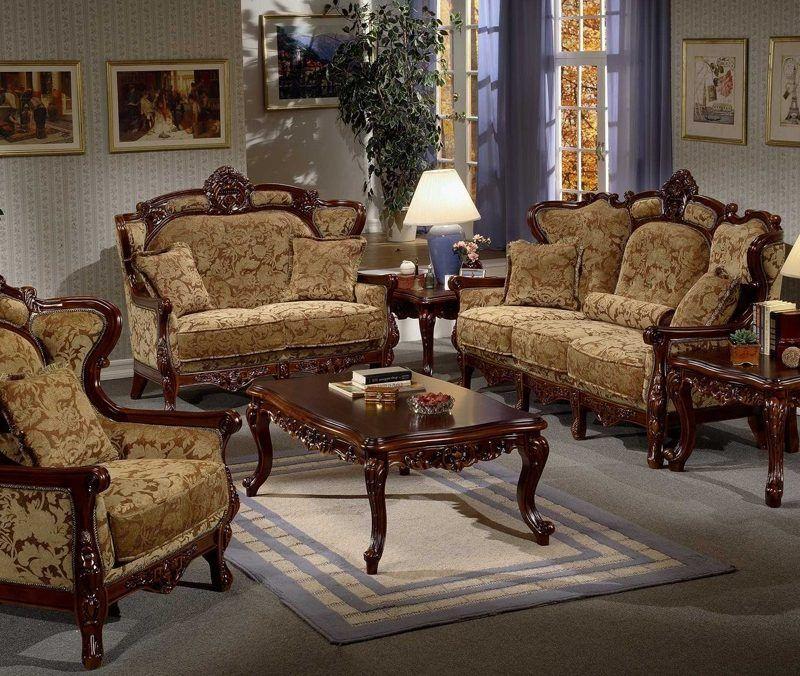 Italian Old Wooden Sofa Set
