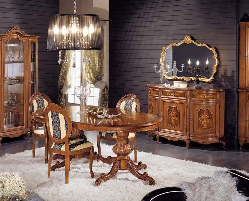 Arrangement of the italian wood furniture can be different.